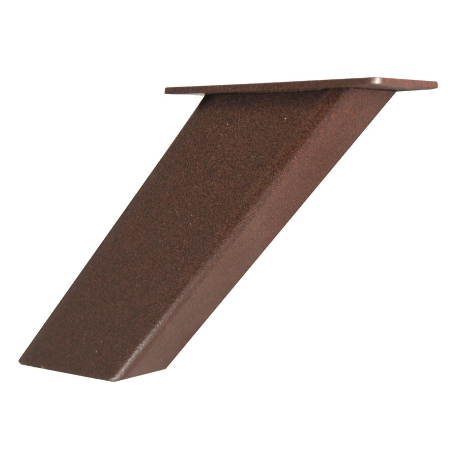 Federal Brace Noda 5-in x 2-in x 4-in Bronze Countertop Support Bracket