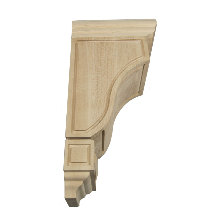 Federal Brace Scalloped Mission Style Wood Corbel Kit 14-in x 5-in x 7-in Clear Countertop Support Bracket