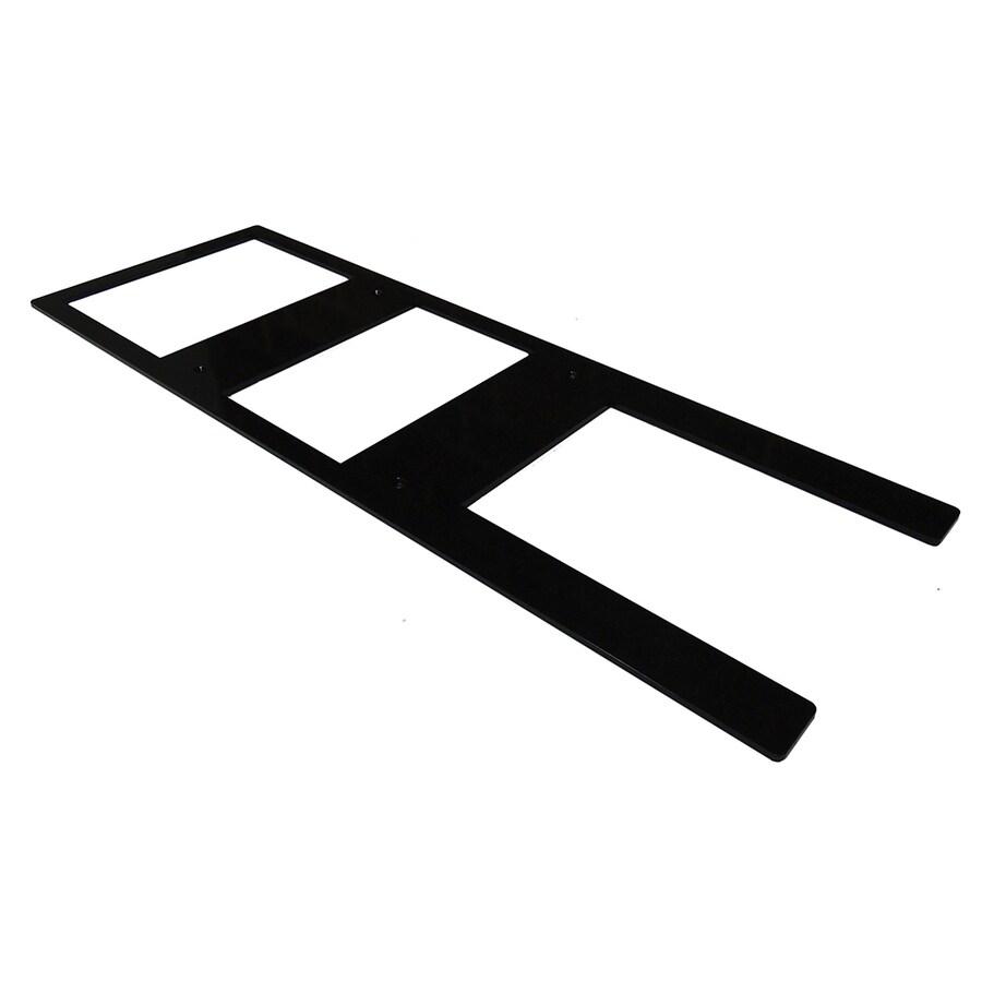 Federal Brace Provencial Hidden Bracket 0.25-in x 12-in x 36-in Black Countertop Support Bracket