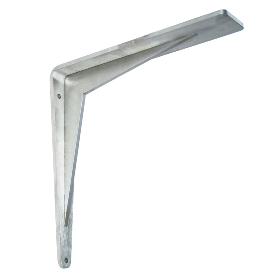 Federal Brace Chevron Support Bracket 10-in x 2-in x 10-in Stainless Steel Countertop Support Bracket