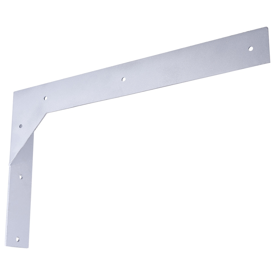 Federal Brace Titus 10-in x 2-in x 18-in Galvanized/Un-coated Countertop Support Bracket
