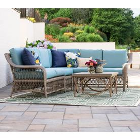 Leisure Made Birmingham 5 Piece Wicker Patio Conversation Set