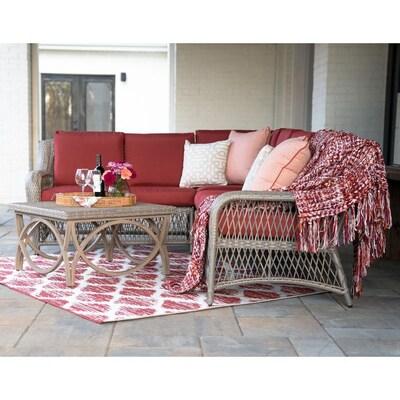 Admirable Leisure Made Birmingham 5 Piece Wicker Frame Patio Home Interior And Landscaping Ologienasavecom