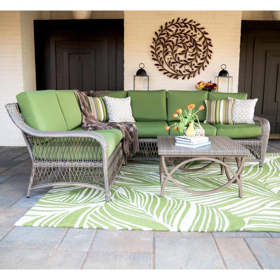 Shop leisure made birmingham 5 piece wicker frame patio for Outdoor furniture birmingham al