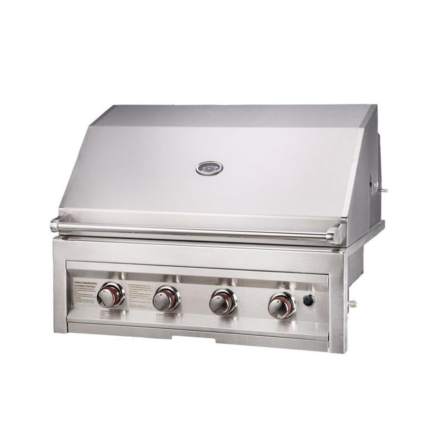 sunstone stainless steel 4 liquid propane gas grill rotisserie burner integrated smoker box at. Black Bedroom Furniture Sets. Home Design Ideas