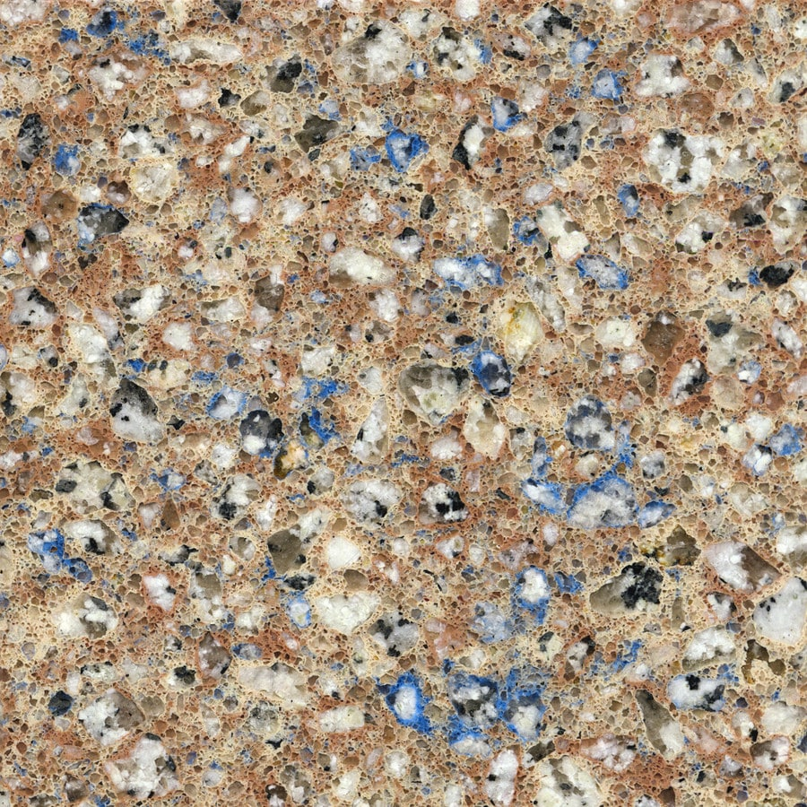 Shop Silestone Blue Sahara Quartz Kitchen Countertop