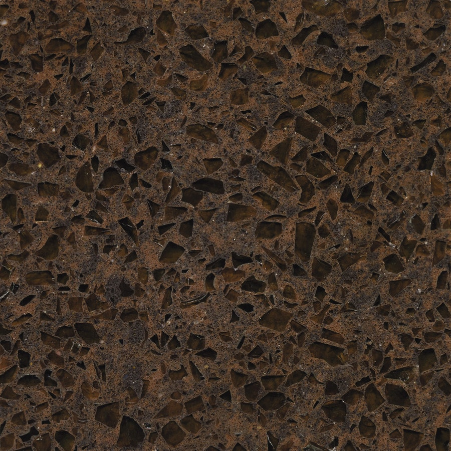 Shop Silestone Coffee Brown Quartz Kitchen Countertop