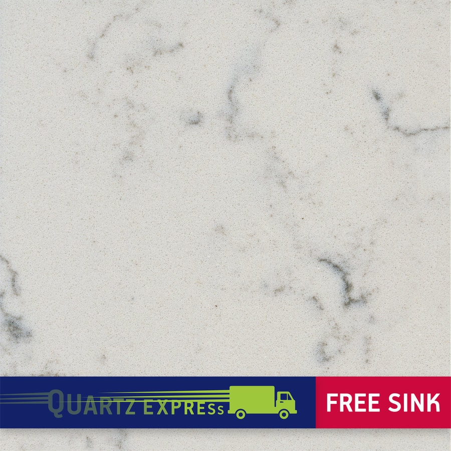 Shop Quartz Countertops : Shop Silestone Lyra Quartz Kitchen Countertop Sample at Lowes.com