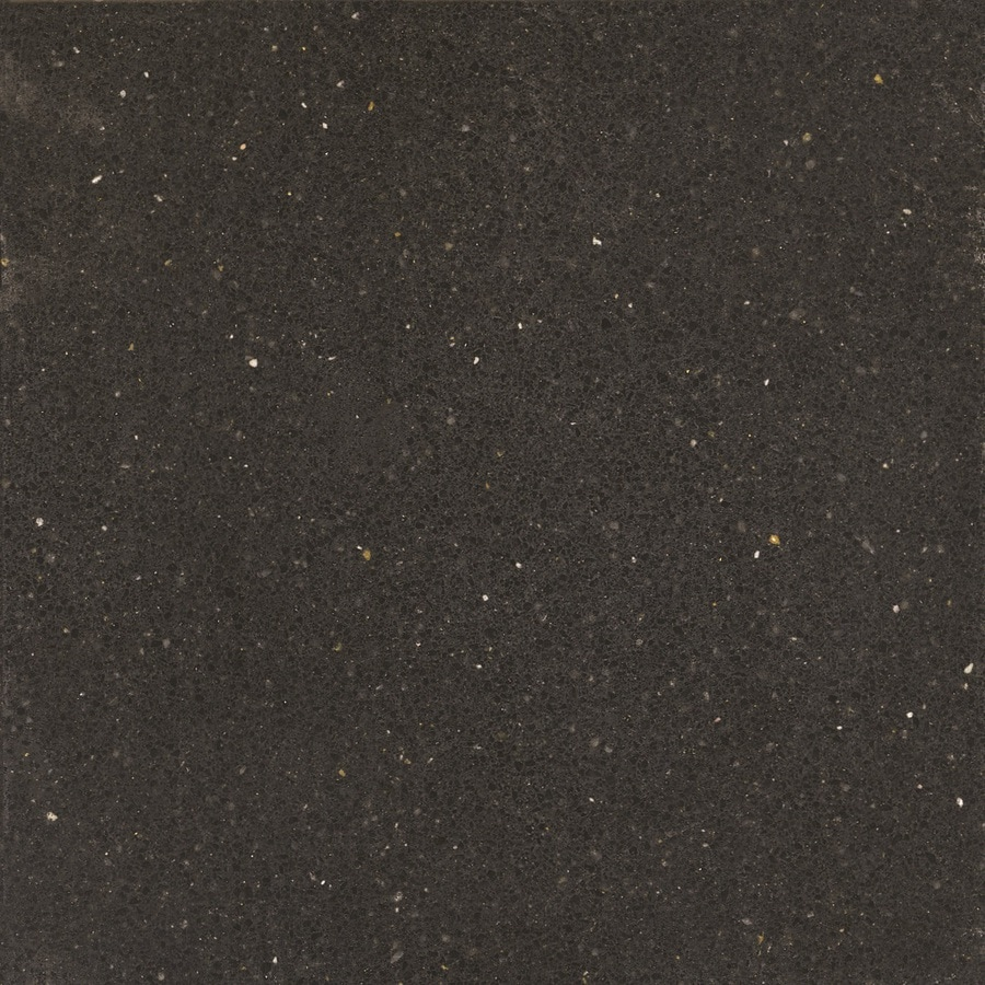 Silestone Pulsar Quartz Kitchen Countertop Sample At Lowes Com: Silestone Tebas Black Quartz Kitchen Countertop Sample At
