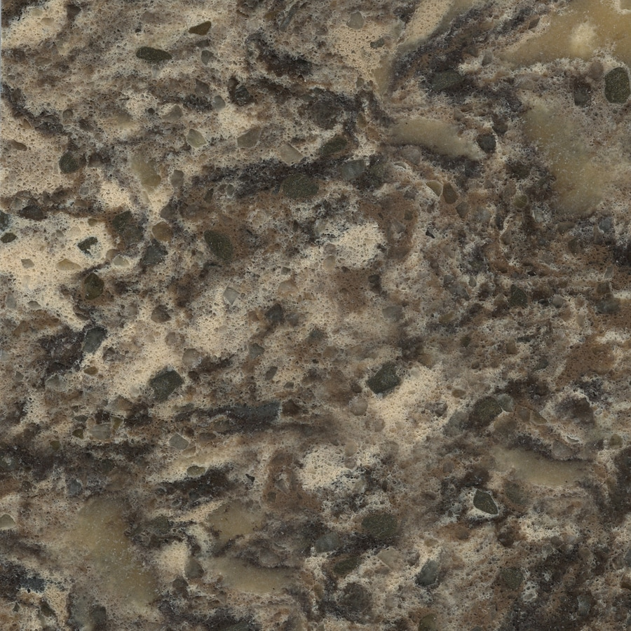 Shop silestone zynite quartz kitchen countertop sample at for Lowes countertops