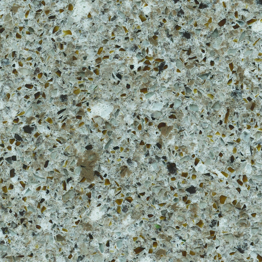 Silestone Pulsar Quartz Kitchen Countertop Sample At Lowes Com: Shop ECO By Cosentino Forest Snow Quartz Kitchen