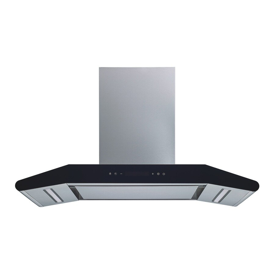 Winflo 30 In Convertible Stainless Steel Wall Mounted Range Hood In The Wall Mounted Range Hoods Department At Lowes Com