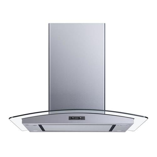 Winflo Winflo Island Range Hood 30-in Convertible Stainless Steel Island Range Hood (Common: 30 Inch; Actual: 29.3-in) at Lowes.com