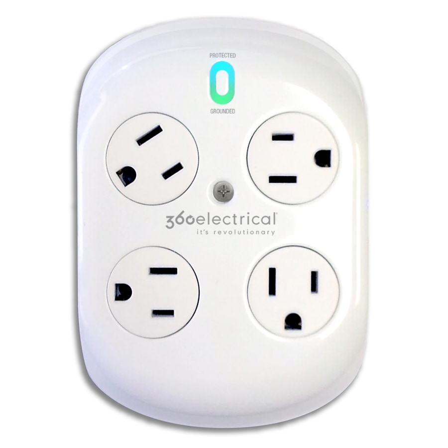 360 Electrical 4-Outlet 918 Joules General Use Surge Protector (Auto-Off Safety)