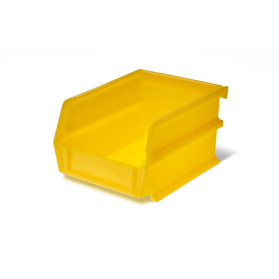 LocBin 10-Pack 4.125-in W x 3-in H x 5.375-in D Yellow Plastic Bins
