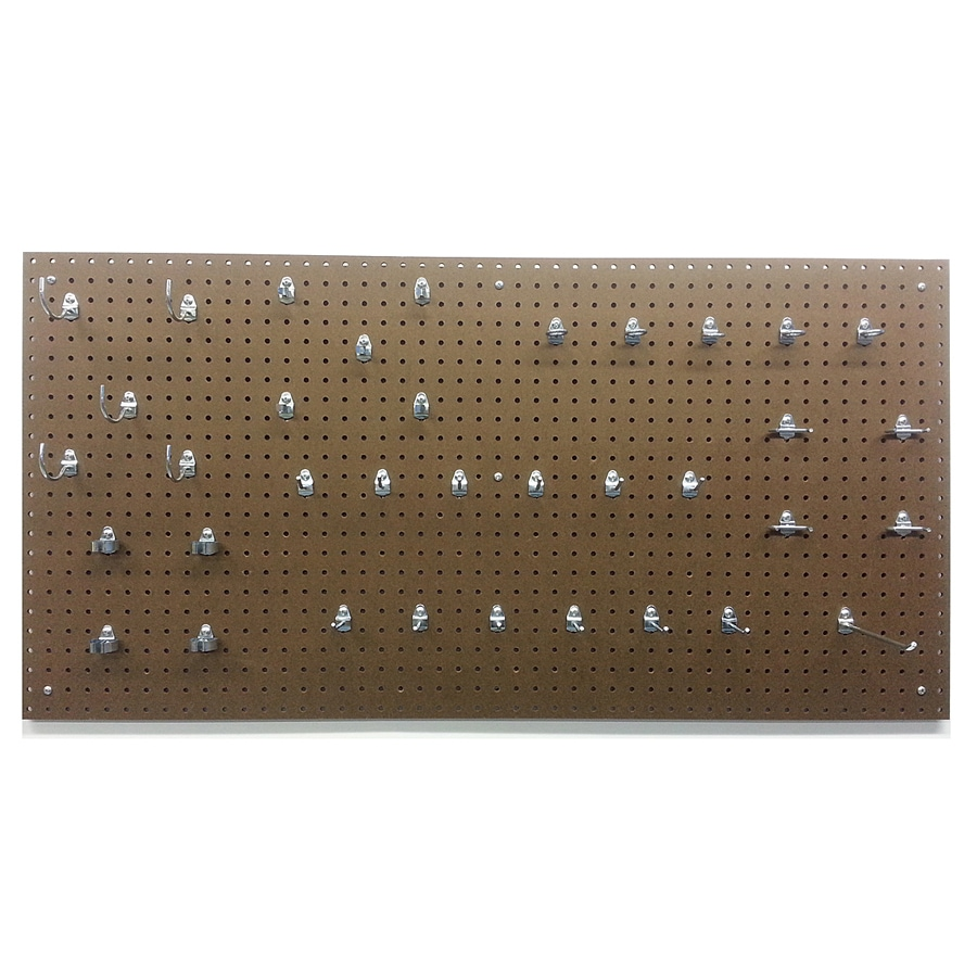 DuraBoard Tempered Hardwood Hardboard Pegboard (Common: 24-in x 48-in; Actual: 24-in x 48-in)