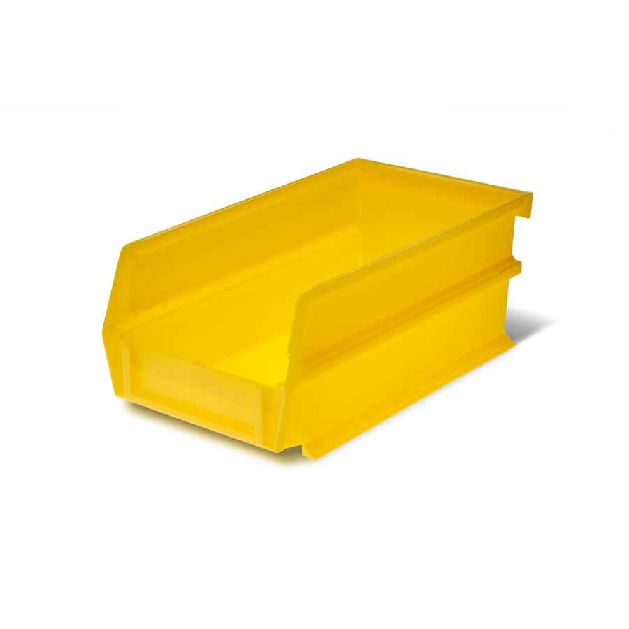 LocBin 10-Pack 4.125-in W x 3-in H x 7.375-in D Yellow Plastic Bins