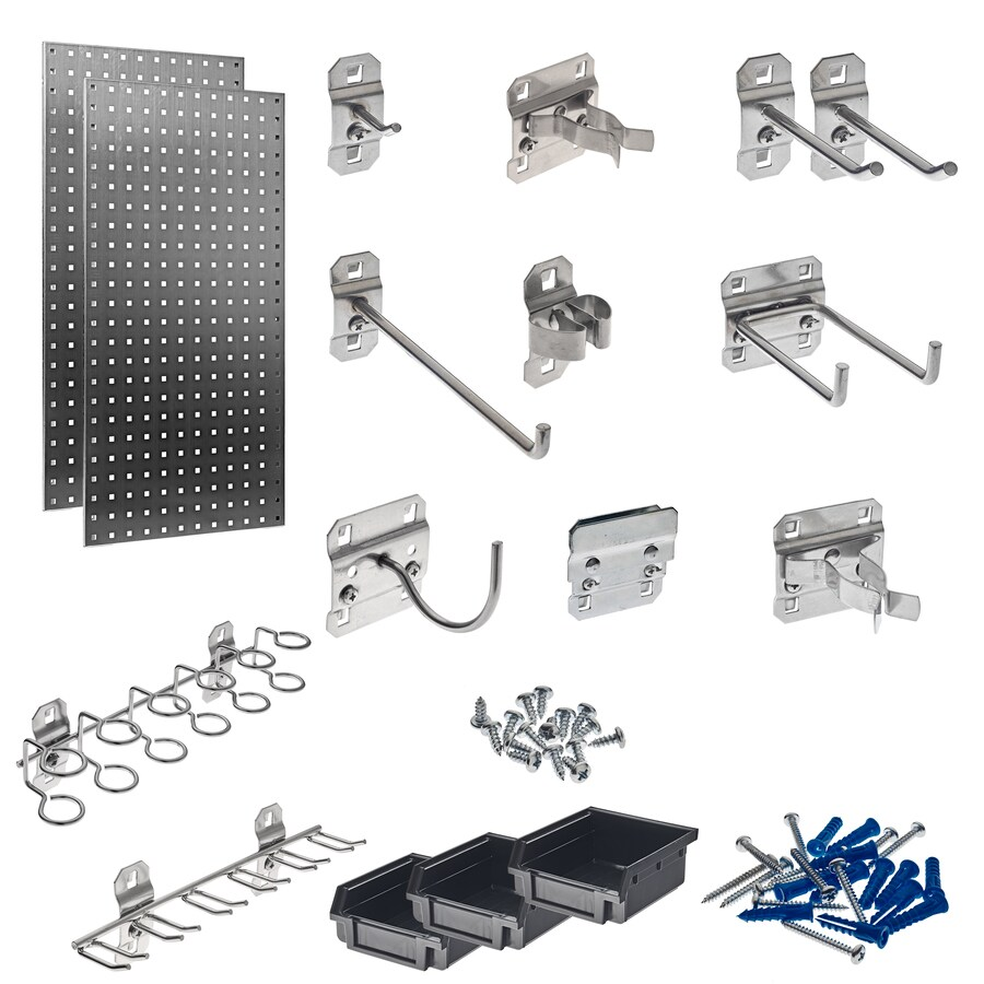LocBoard 38-Piece Steel Pegboard (Actual: 18-in x 36-in)