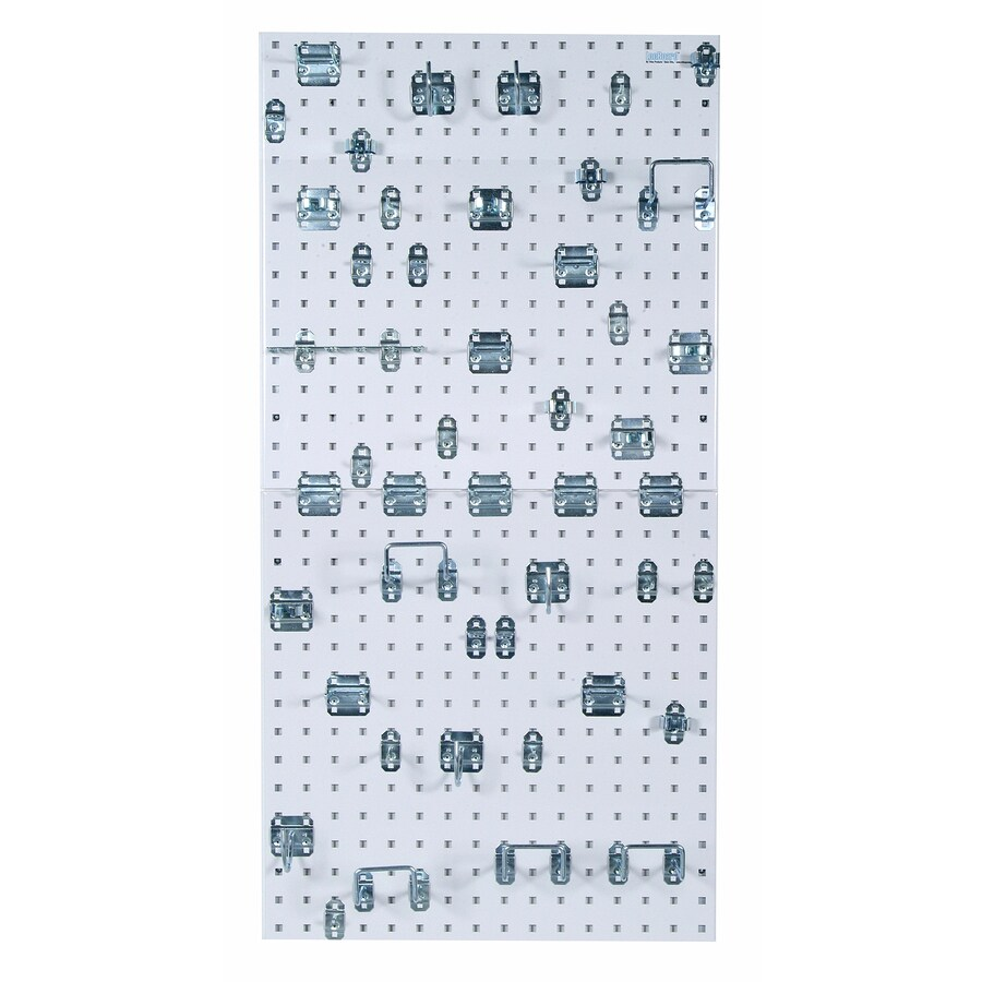 LocBoard 48-Piece Steel Pegboard (Actual: 24-in x 24-in)