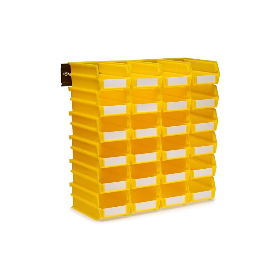 LocBin 4.125-in W x 3-in H x 7.375-in D Yellow Plastic Bin