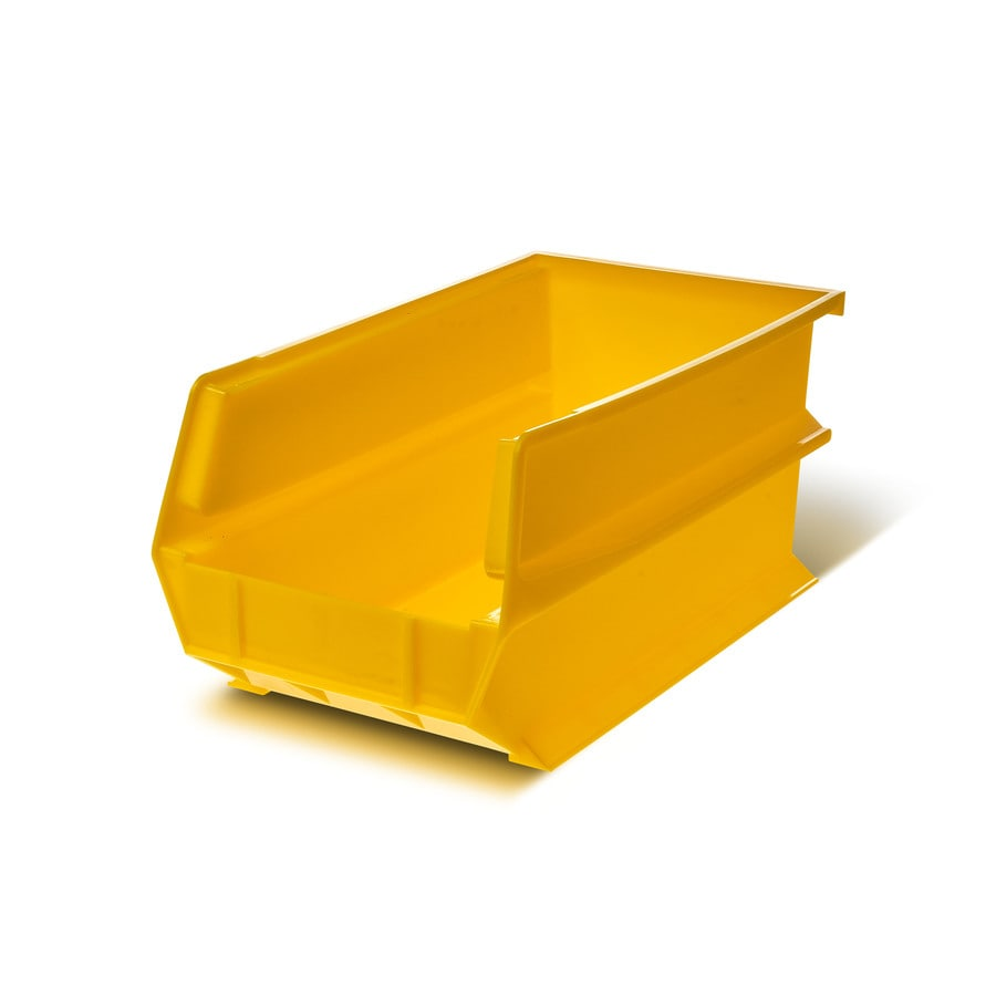 LocBin 24-Pack 4.125-in W x 3-in H x 7.375-in D Yellow Plastic Bins