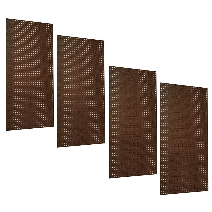 Triton Products 24-in x 48-in Brown Pegboard