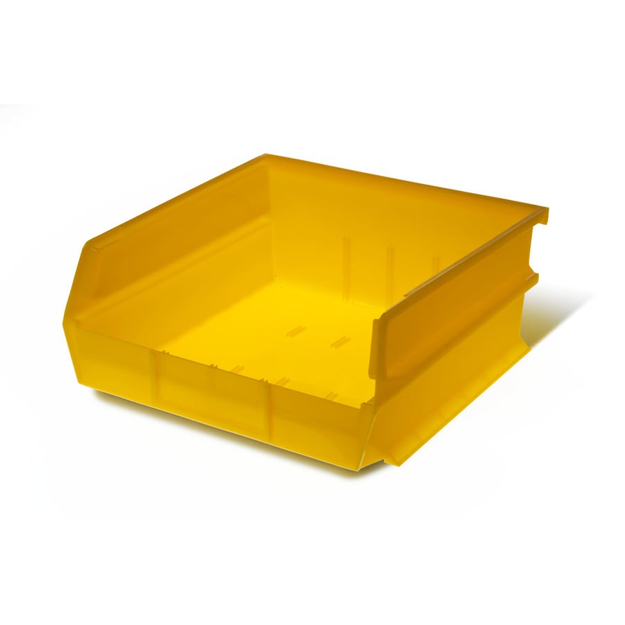 LocBin 6-Pack 11-in W x 5-in H x 10.875-in D Yellow Plastic Bins