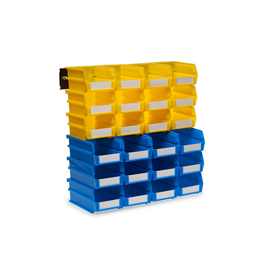LocBin 26-Pack 4.125-in W x 3-in H x 7.375-in D Yellow/Blue Plastic Bin