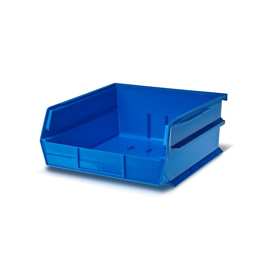 LocBin 6-Pack 11-in W x 5-in H x 10.875-in D Blue Plastic Bins