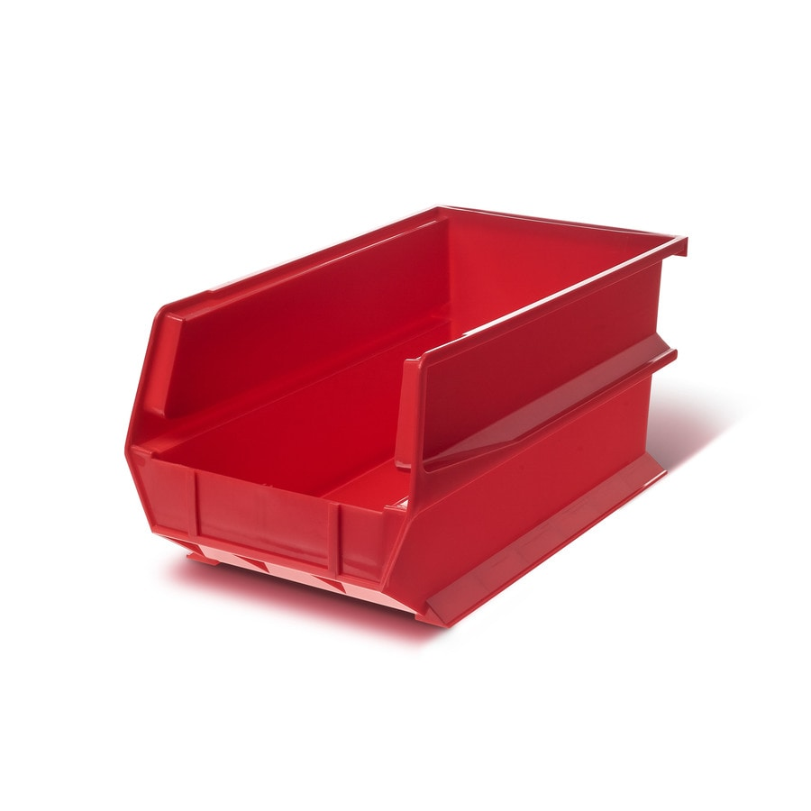 LocBin 6-Pack 8.25-in W x 7-in H x 14.75-in D Red Plastic Bin