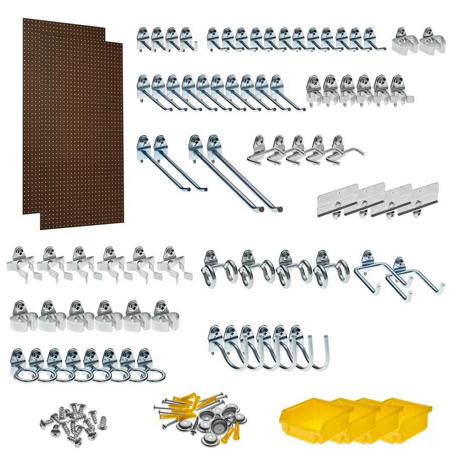 Triton Products 86-Piece Hardboard Pegboard (Actual: 24-in x 48-in)