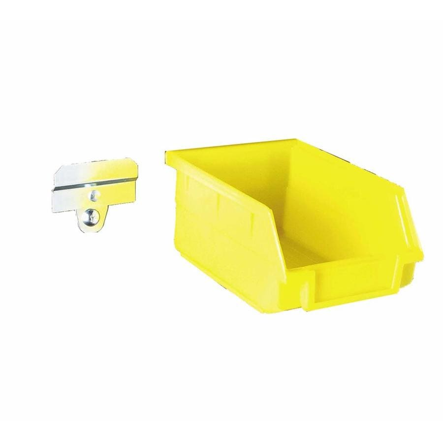 LocBin 24-Pack 4.125-in W x 3-in H x 5.375-in D Yellow Plastic Bins
