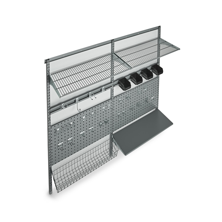 Storability 66-in W x 63-in H x 16-in D Steel Wall Mounted Shelving