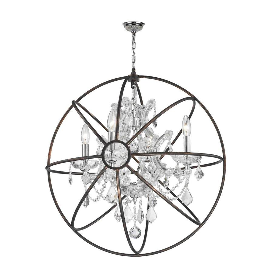 Shop worldwide lighting armillary 24 in 4 light polished chrome worldwide lighting armillary 24 in 4 light polished chrome crystal candle chandelier arubaitofo Image collections