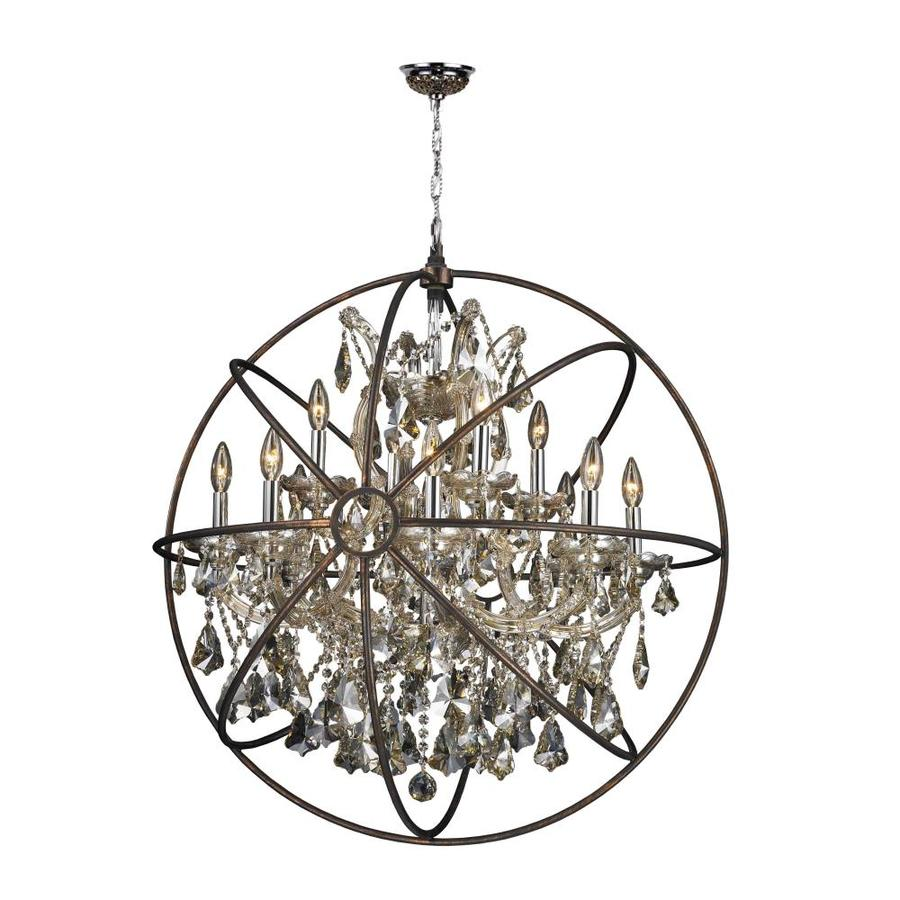 Shop worldwide lighting armillary 33 in 13 light polished chrome worldwide lighting armillary 33 in 13 light polished chrome crystal candle chandelier mozeypictures Images