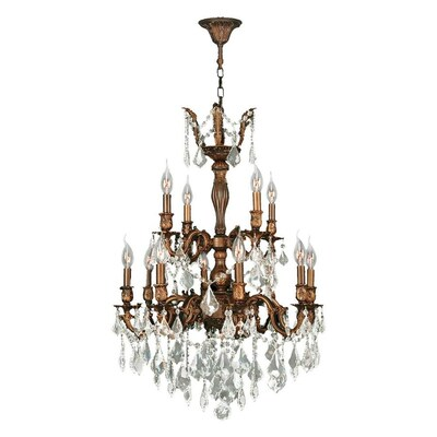 Worldwide Lighting Versailles 12 Light French Gold Glam
