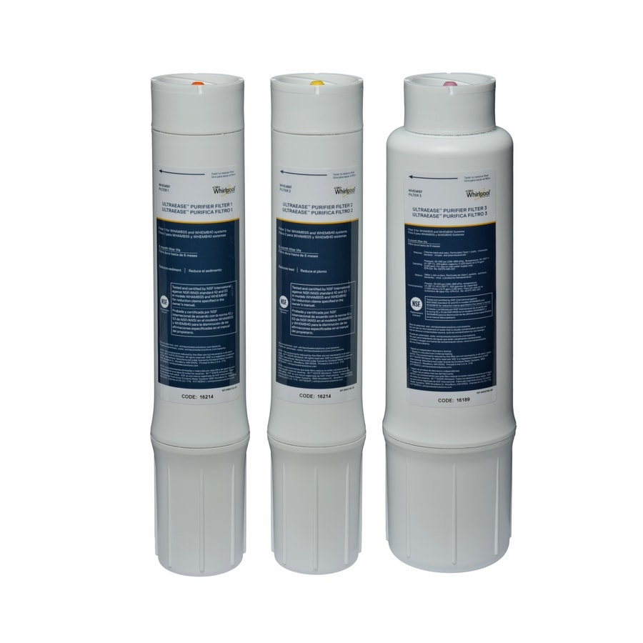 Shop whirlpool 3 pack under sink replacement filters at - Lowes water filter under sink ...