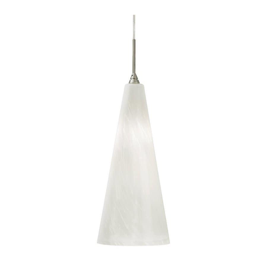 Stone 7-in Polished Nickel Mini Tinted Glass Pendant