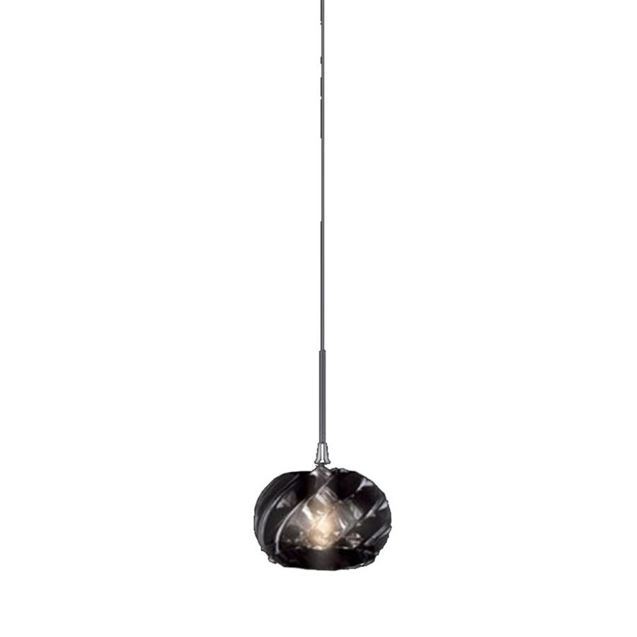 Stone 3.5-in Polished Nickel Mini Marbleized Glass Pendant