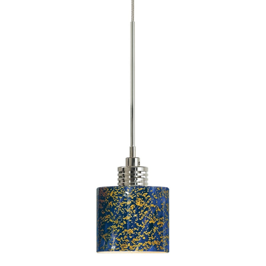 Stone 2.25-in Satin Nickel Single Textured Glass Pendant