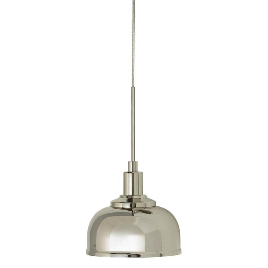 Stone 3.5-in Polished Nickel Mini Pendant