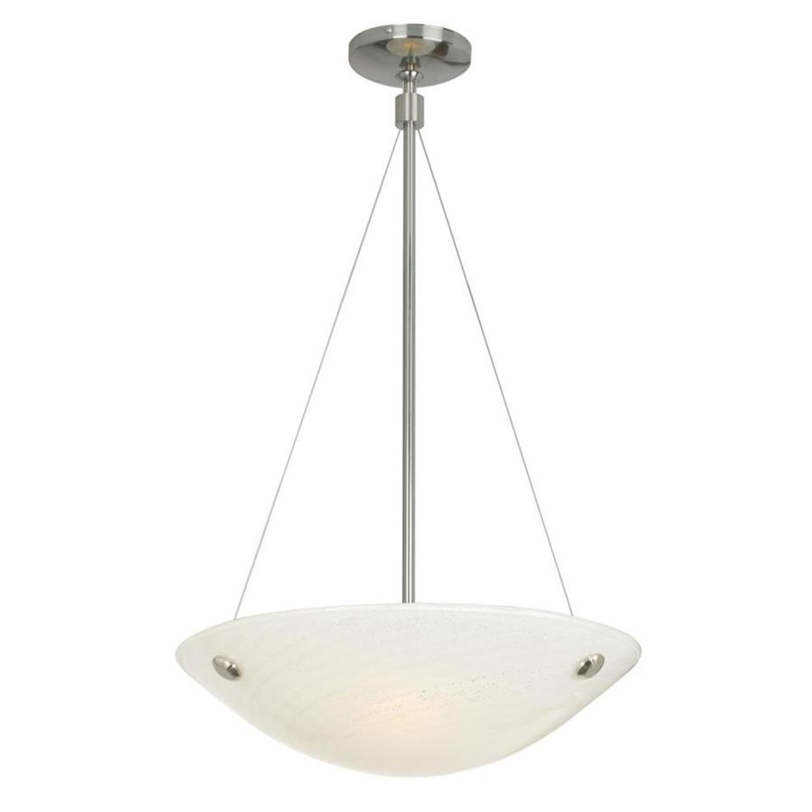 Stone 4.7-in 1-Light Satin Nickel Tinted Glass Candle Chandelier