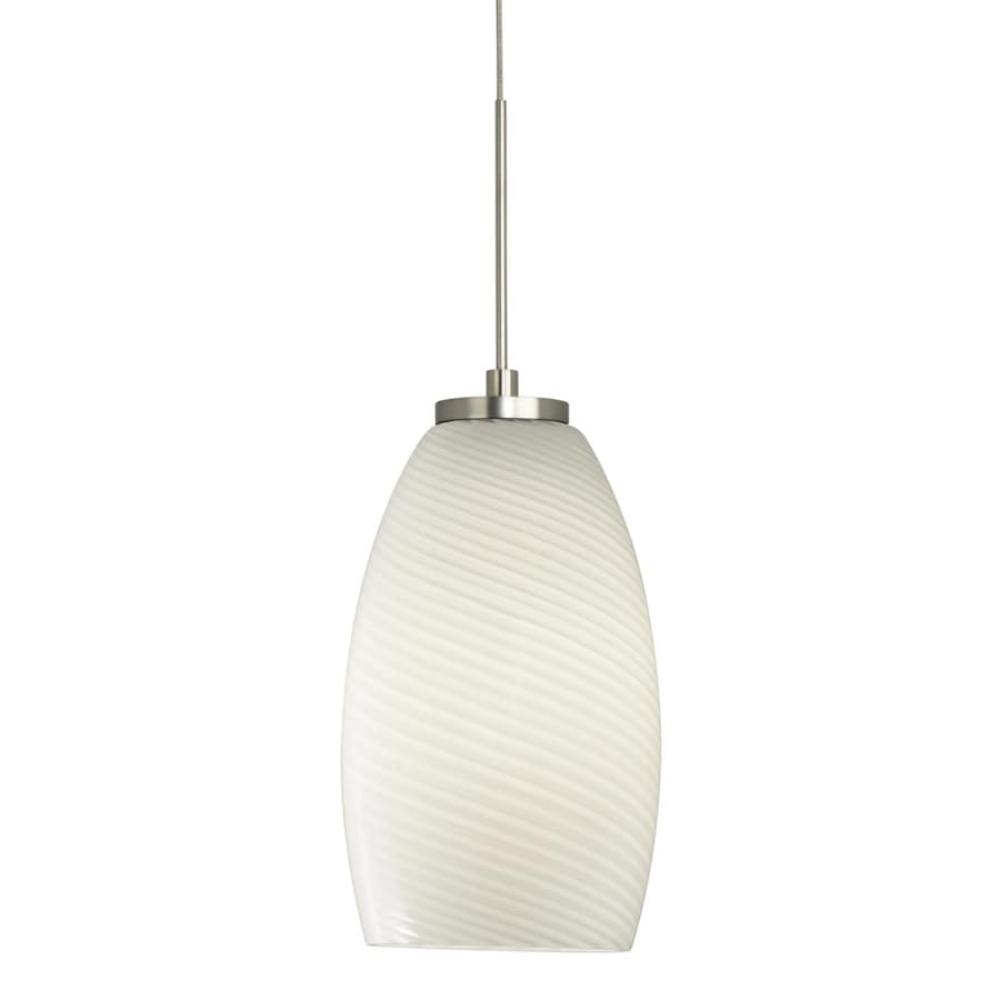 Stone 7.75-in Satin Nickel Mini Pendant