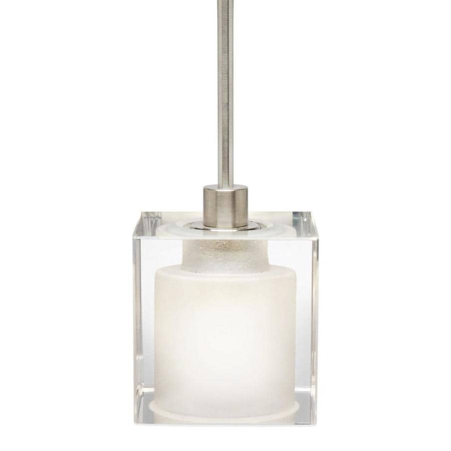 Stone 2.5-in Satin Nickel Mini Clear Glass Pendant