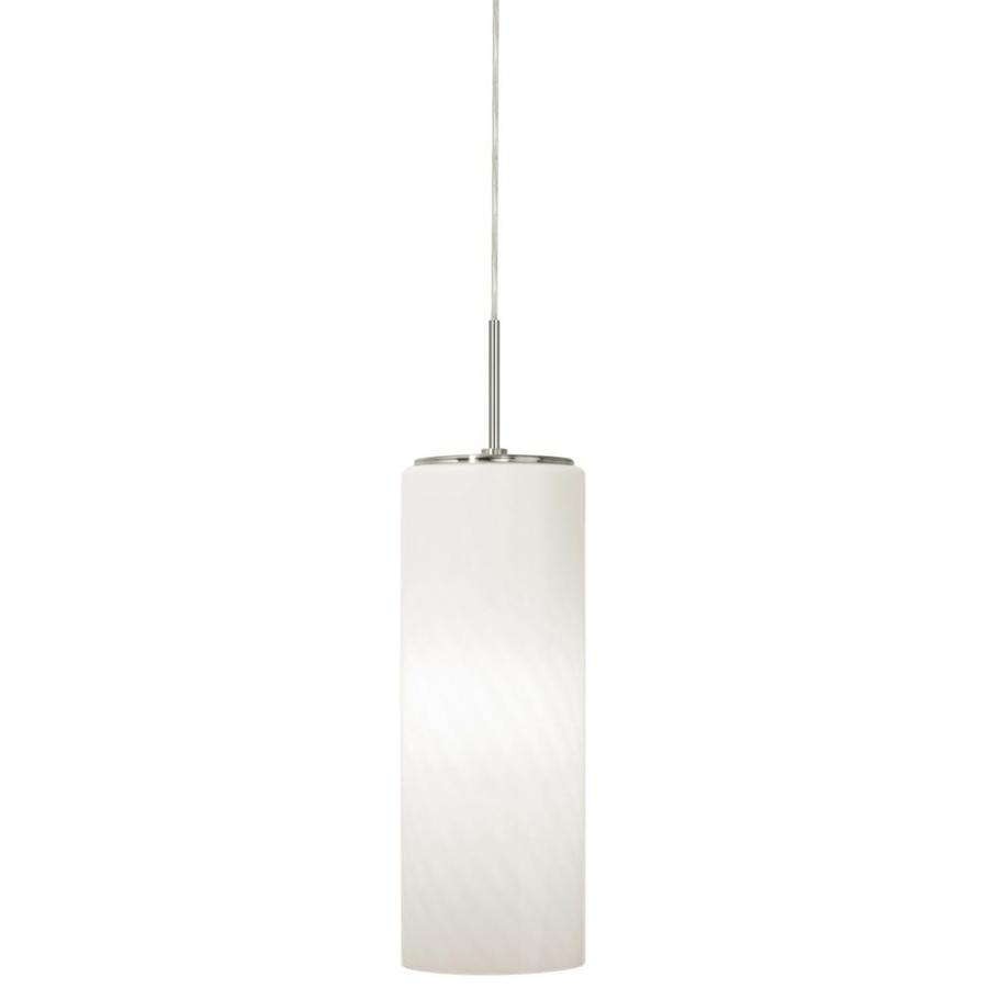 Stone 11-in Satin Nickel Single Pendant