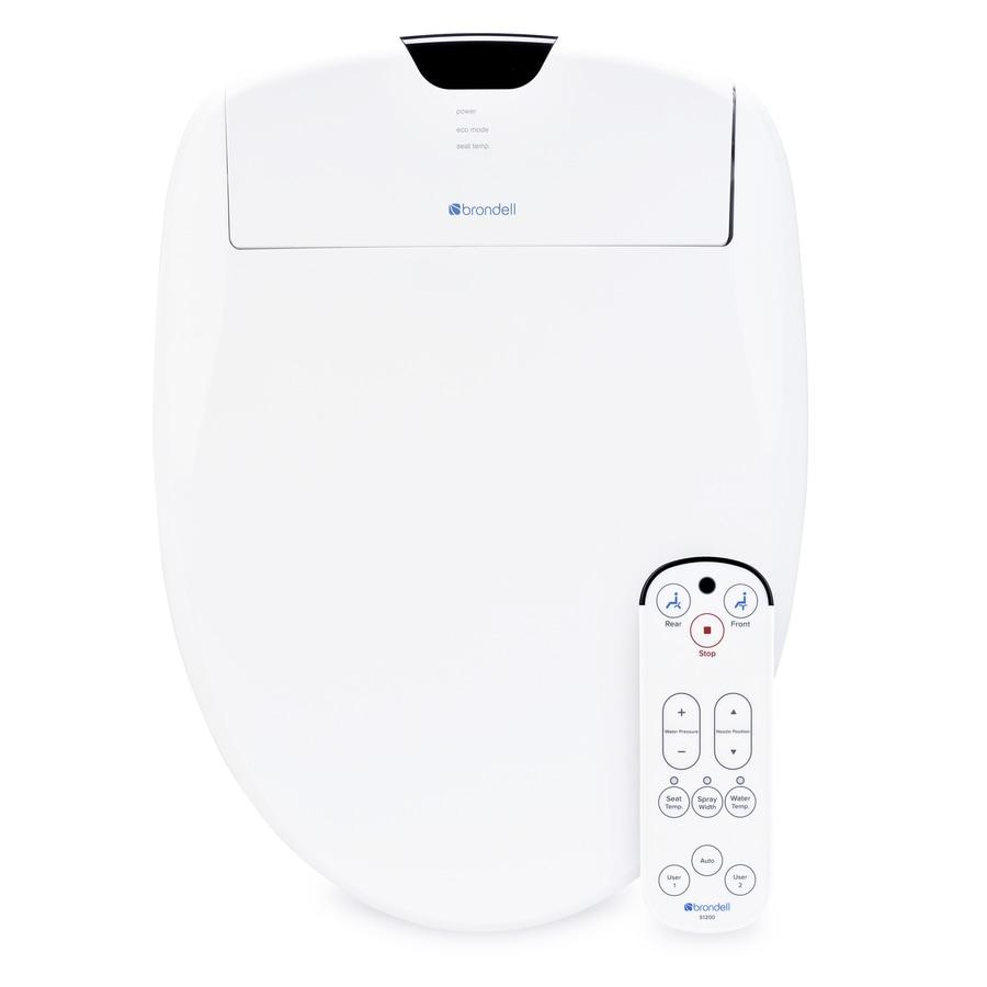 Brondell Swash 1200 Plastic Elongated Slow-Close Heated Bidet Toilet Seat