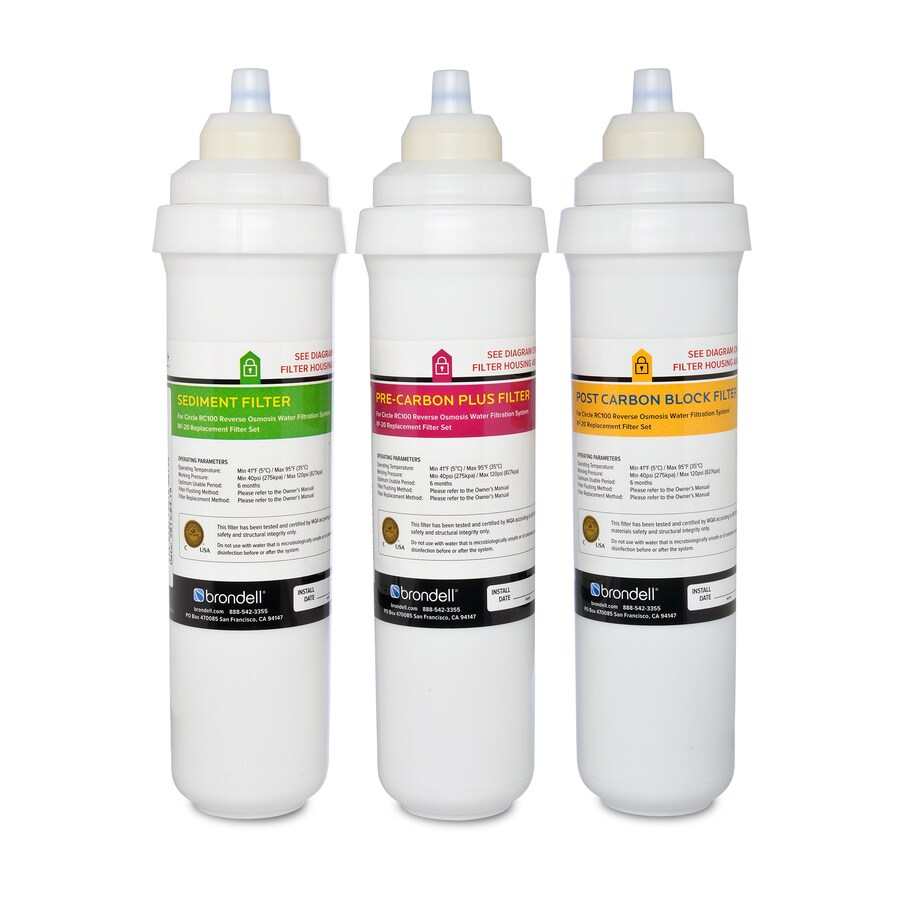 Brondell H2o Circle Reverse Osmosis System 3 Pack Carbon