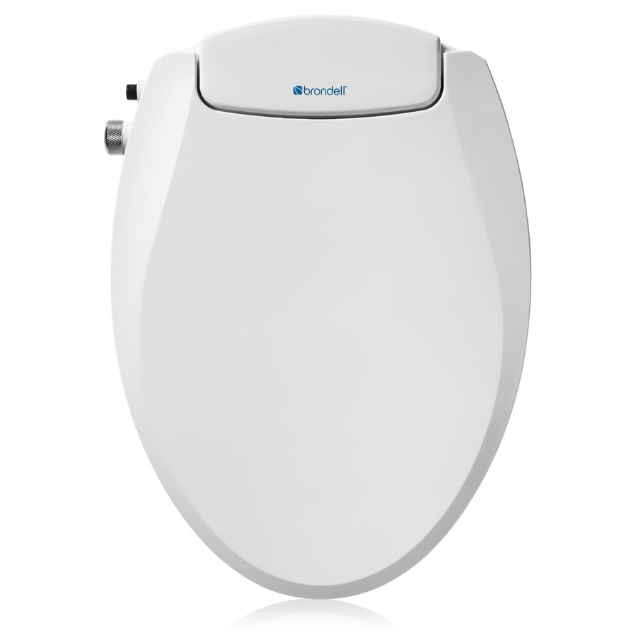 Brondell Ecoseat White Elongated Slow Close Bidet Toilet Seat In The Toilet Seats Department At Lowes Com
