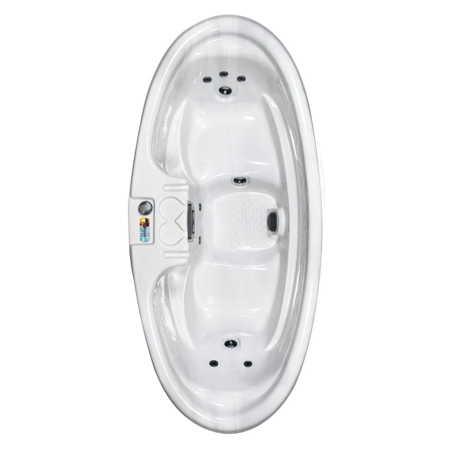 Qca Spas 2 Person 8 Jet Oval Hot Tub At Lowes Com