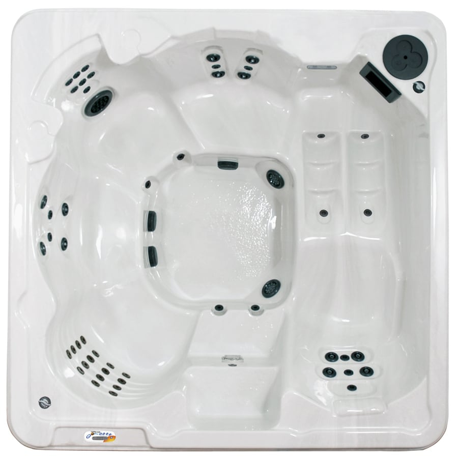 QCA Spas 6-Person Square Hot Tub